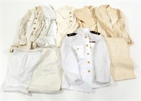 WWII US NAVY OFFICER DRESS WHITE UNIFORM LOT