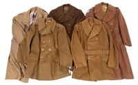 WWII US ARMY OFFICER DRESS OVERCOAT LOT
