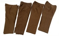 WWII US ARMY NCO & ENLISTED WOOL PANT LOT