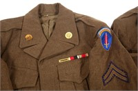 WWII US ARMY NCO & ENLISTED IKE JACKET LOT