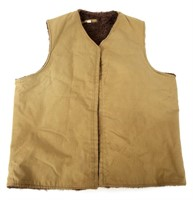 WWII US NAMED WOOL PILE LINED & DECORATED VEST
