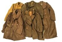 WWII US ARMY WOOL OVERCOAT UNIFORM LOT