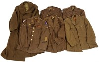 WWII US ARMY ENLISTED / NCO DRESS UNIFORM LOT