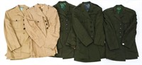 WWII US MARINE CORPS OFFICER TUNIC LOT OF 5