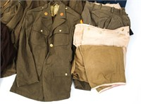 WWII US ARMY ENLISTED - NCO UNIFORM LOT