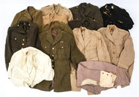 WWII US ARMY OFFICER DRESS UNIFORM LARGE LOT