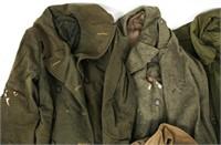 WWII US ARMY - USMC - USAF OVERCOAT LOT