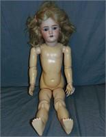 """29"""" Heinrich Handwerck S & H Bisque Head Doll"""