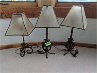 3) Metal Table Lamps