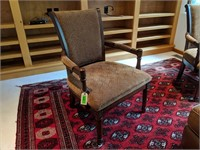 2) Chairs, Large Ottoman