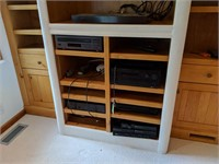 Contents of Entertainment Center: Stereos,