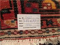 "Persian Iranian Hand Made Carpet Runner 154"" x 39"""