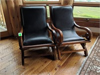 2) Chairs with Rivet Accents