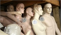 LARGE LOT OF MANNEQUINS