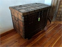 Trunk with Metal Grid Pattern Accents