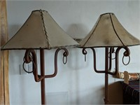 2) Metal Floor Lamps