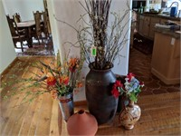 Vases, Wicker Baskets, Artificial Plant Filler