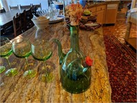 Green Princess House Wine Decanter