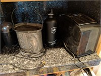 Coffee Pot, Toaster, Coffee Grinder,