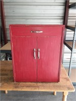 Red Wood Cabinet