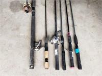 Six Fishing Poles