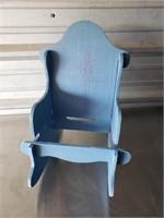 Child's Rocking Chair; Blue