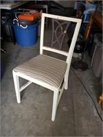 Chair; Wood, White