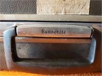 Vintage Suitcase, Gray Samsonite