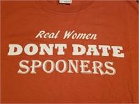 u-Tees: Real Women Don't Date Spooners (L)