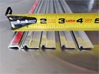 Five Aluminum Strips / Tracks