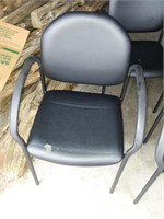 Two Office Chairs; Black