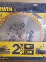 """12"""" DeWalt fine finish saw blade - used"""