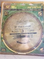 "12"" freud fine cut-off saw blade - used"