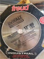 "12"" DeWalt Fine Finish saw blade - used"