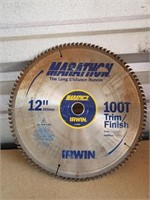"12"" Marathon Trim / Finish saw blade - used"