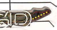 Miller MGD Guitar Double Tube Neon Beer Sign