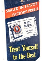 Vintage Mail Pouch Tobacco Advertising Thermometer