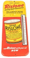 Vintage Large Rislone Oil Thermometer Sign