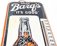 Vintage Large Barqs Root Beer Thermometer Sign