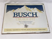 Vintage Busch Draft Saint Louis Mirrored Ad. Sign