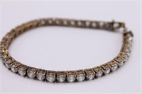 .925 Sterling Silver Simulated Diamond Bracelet