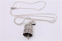 .925 Sterling Silver Friends Pendant And Necklace