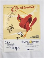 2003 Signed St. Louis Cardinals Official Scorecard