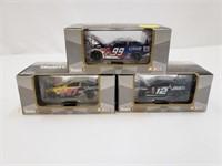 (3) Team Caliber Nascar Racecar Diecast Cars Toys