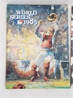 1985 World Series Program And Sticker Yearbook