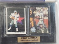 Troy Aikman Card Collectors Plaque