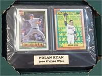 Nolan Ryan Card Collectors Plaque