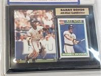 Barry Bonds Collectors Picture & Card Plaque