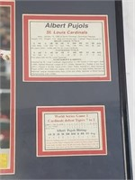 Albert Pujols 2006 WS Framed Photo And Stats