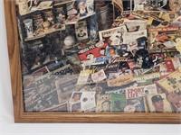 Framed New York Yankees Memorabilia Puzzle